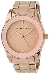 Anne Klein Women's AK/1264RGRG Wall-To-Wall Crystal Rose Gold-Tone Bracelet Watch
