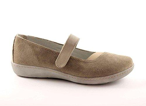 GRUNLAND DELA SC1226 sabbia scarpe donna ballerine cinturino strappo 39
