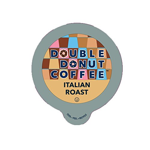 Double Donut Italian Roast Coffee, in Recyclable Single Serve Cups for Keurig K-Cup Brewers, 24 Count (Coffee In K Cups compare prices)