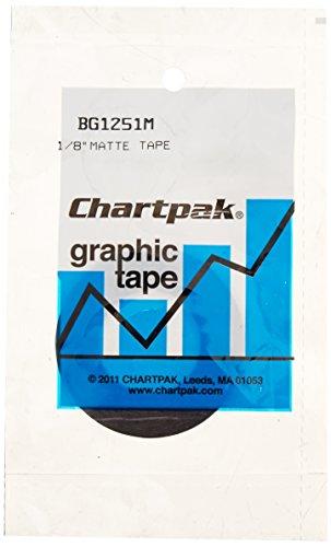chartpak-graphic-chart-tape-1-8-inch-matte-black-bg1251m