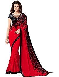 Sarees ( Jay Varudi Creation Women's Multi-Coloured Embroidered Saree For Women )