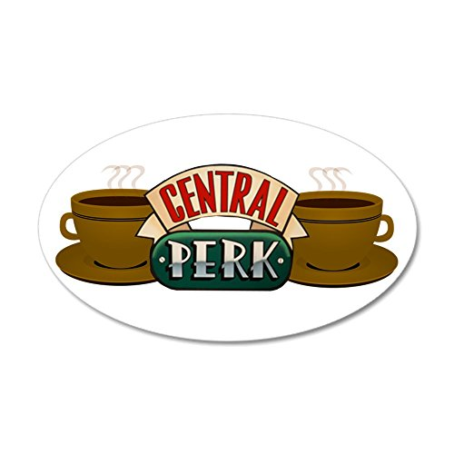 CafePress - Friends Central Perk - 20x12 Oval Wall Decal, Vinyl Wall Peel, Reusable Wall Cling (Central Perk Wall Art compare prices)