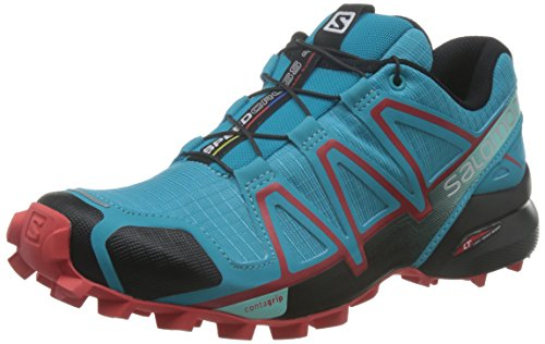 Salomon Speedcross 4, Scarpe da Trail Running Donna, Blu (Blue Jay/Black/Infrared), 40 2/3 EU