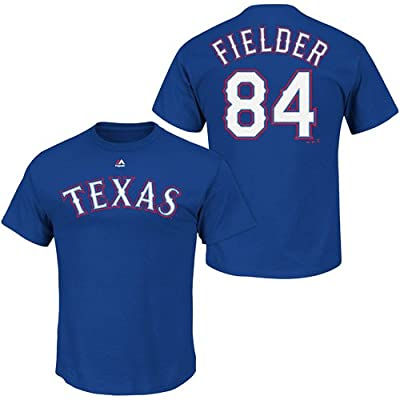 Prince Fielder Texas Rangers Blue Name & Number Player T-Shirt Jersey