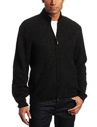 Pendleton Men's Shetland Zip-front Cardigan Sweater Black Heather X-Large