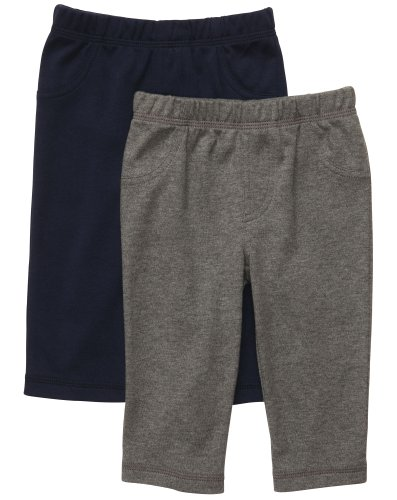 Carter'S Baby Boys' 2-Pack Pant - Navy/Heather Grey - Newborn front-139356