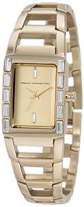 French Connection FCUK c FC1037G - Reloj de mujer de cuarzo, correa de acero inoxidable color oro