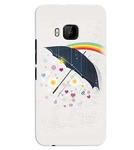 PrintVisa Romantic Love Umbrella 3D Hard Polycarbonate Designer Back Case Cover for HTC One M9