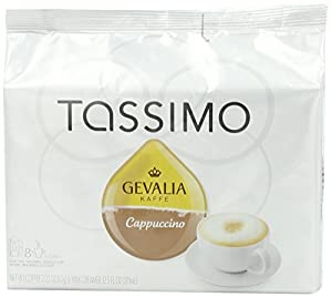 Tassimo Gevalia Cappuccino, 8 Servings, 16 Count T-Discs, (8 Espresso + 8 Milk Creamers) by Tassimo