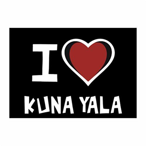 teeburon-i-love-kuna-yala-pack-of-4-stickers