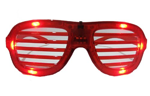 Red Led Led Slotted Sunglasses Great For Raves Or Parties