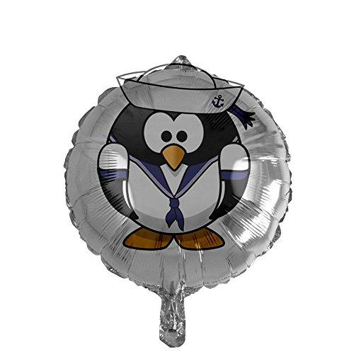 Mylar Balloon Little Round Penguin - Navy Sailor