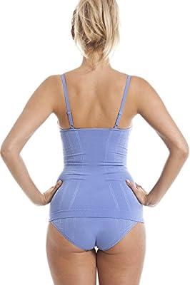 Damen Shapewear - Figurformendes Hemd - Ohne Nähte - Blau by Camille