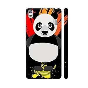 Colorpur Panda Illustration On Black Designer Mobile Phone Case Back Cover For Lenovo K3 Note   Artist: Designer Chennai