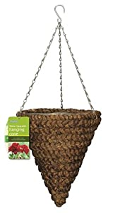 gardman panier suspendu conique en jacinthe d 39 eau 35 56 cm jardin. Black Bedroom Furniture Sets. Home Design Ideas