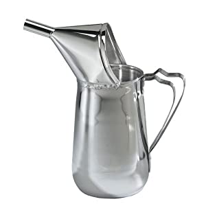 "Gold Medal 5109 Funnel Cake Pouring Pitcher, 1-1/2 Quart, ""Open Up"" Spout, Non-Metallic Funnel"