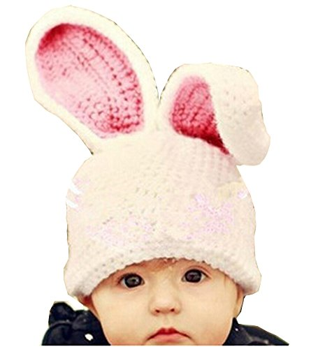 Photography Prop Baby Infant Costume Big Rabbit Ear Crochet Knitted Hat Cap