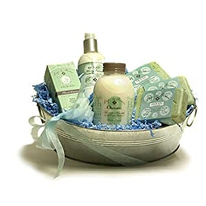 L'Epi de Provence French Soap - Hand Cream - Body Cream - Foam Bath Gift Basket - Ocean Seaweed