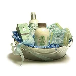 L'Epi de Provence French Soap - Hand Cream - Body Cream - Foam Bath Gift Basket - Ocean Seaweed