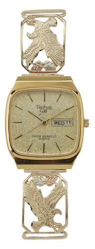 Men's Coleman Black Hills Gold 10K Gold Eagle Watch (Coleman Mens Watch compare prices)