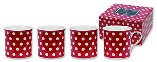 heath-mccabe-countess-white-spot-on-red-fine-china-mugs-pack-of-4-red