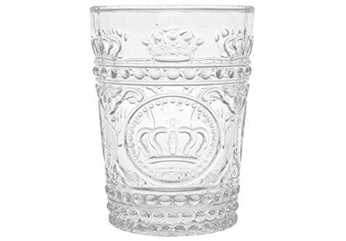 H&H Firenze Bicchiere Vetro da 22 cl, Trasparente, 6 Pezzi