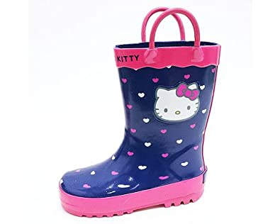 Model Zando Kids Shoes Boots Gum Boots Zoom Hello Kitty Rain Boots Pink