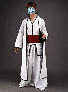 CTMWEB Anime Bleach Cosplay Costume Aizen Sousuke 2nd Ver Set Kid Small