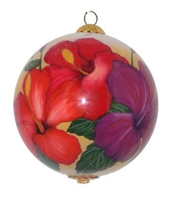 Collectible Hawaiian Christmas Ornament - Radiant Hibiscus