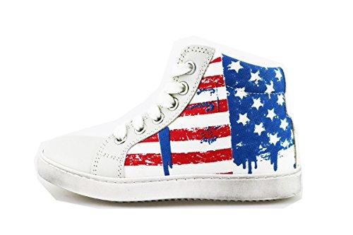 MELANIA sneakers bambino 30 EU bianco tela AG395