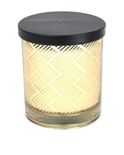 Modern Alchemy Box Patterned Gold Mango Wood 10-Oz. Candle