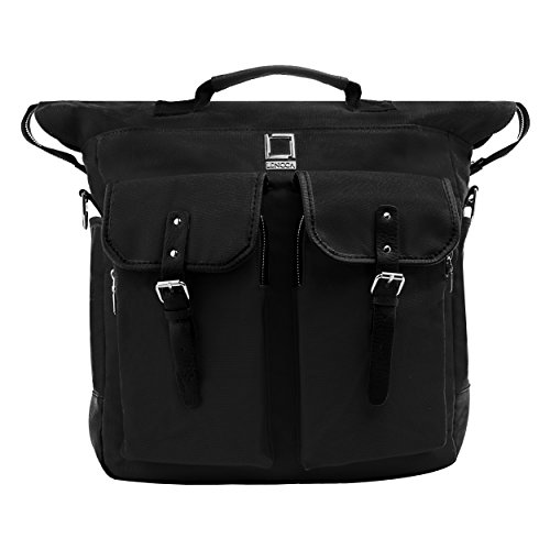 Lencca discount duty free Limited Edition Lencca Phlox 2 in 1 Laptop Backpack and Messenger Bag (Black)