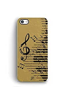 YuBingo Musical Notes Mobile Case Back Cover for Apple iPhone 5S