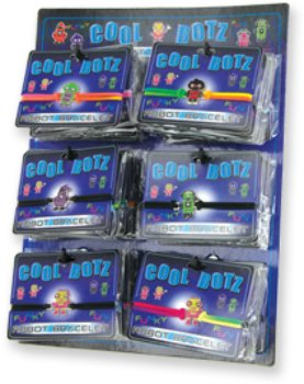 Cool Botz Robot Bracelet [72 Pieces] *** Product Description: Cool Botz Robot Bracelet Ride The Robot Trend With These Oh So Cool Botz Robot Bracelets! A Character For Every Cyborg-Lover With Fun Colors And Hip Poses. Styles For Both Boys And Gir *** front-601917