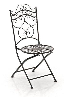 CLP nostalgischer Klappstuhl INDRA aus Eisen (aus bis zu 6 Farben wählen) von CLP - Gartenmöbel von Du und Dein Garten