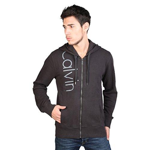 Felpa uomo Calvin Klein CMQ224 con cappuccio e zip nero (M, Nero)