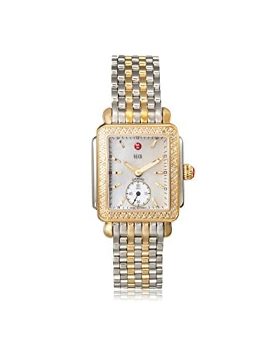 Michele Women's MWW06V000023 Mother of Pearl Stainless Steel and Yellow Gold Plated Watch