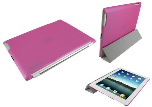 rooCASE Slim-Fit (Pink) Companion Case Compatible with Smart Cover for Apple iPad 2 Wifi / 3G Model 16GB, 32GB, 64GB