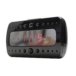 匠ブランド (TAR6U) 置時計型ビデオカメラ Black Knight (ブラックナイト) 動体検知録画機能 赤外線搭載 ブラック NCC02180122-A0