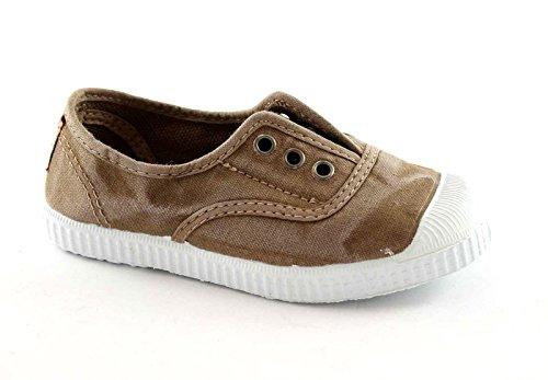 CIENTA 70777 28/34 beige scarpe unisex elastico tessuto 32