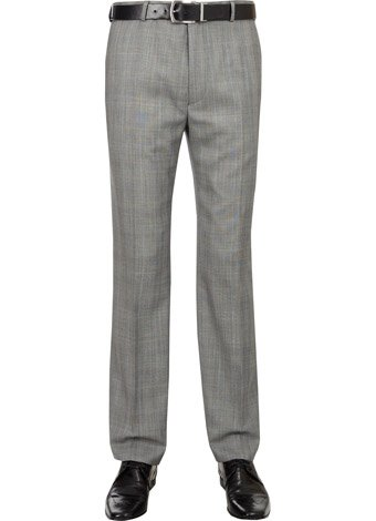 Austin Reed Contemporary Fit Grey Check Trousers REGULAR MENS 34