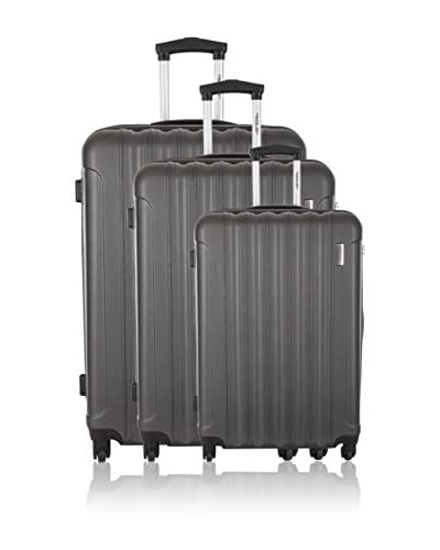 Travel One Set 3 Trolley Rigido Crewed [Blu]
