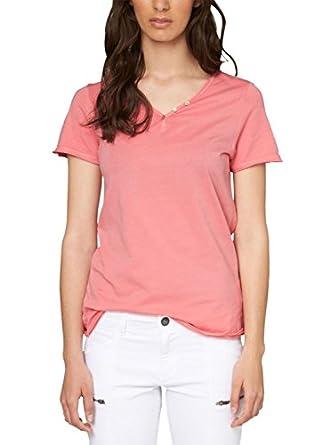 oliver women 39 s mit rollkanten ausschnitt v neck short sleeve t shirt. Black Bedroom Furniture Sets. Home Design Ideas