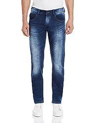 Monte Carlo Men's Skinny Fit Jeans (2160871454Dn_32W x 34L_Dark Blue)
