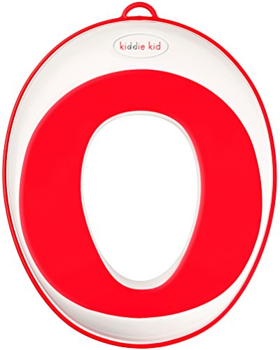 Kiddie Kid- Potty training seat for toddlers and kids, (Red, Unisex) urine splash guard for toilet, non-slip, accessories included, comfy Potty seat, portable potty chair for the around we go (Potty Training Toilet Insert compare prices)