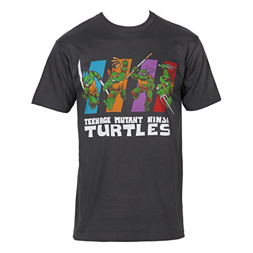 Teenage Mutant Ninja Turtles Group Color Bars Adult T-Shirt