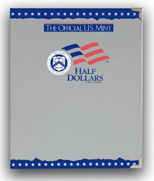 The Official US Mint / Mint Coin Album Half Dollars, Plain - By Whitman