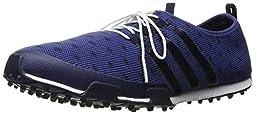 adidas Women\'s Ballerina Primeknit Golf Shoe, Raw Purple/Collegiate Navy/Collegiate Navy, 7 M US