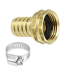 Garden Hose End Replacement Heavy Duty Solid Brass 3 4 Inch Hose