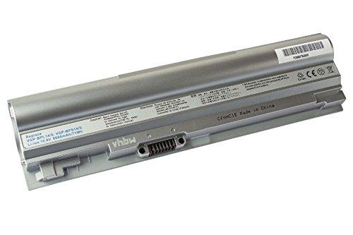 vhbw Li-Ion Batterie 6600mAh (10.8V) argent pour notebook Sony VAIO VGN-TT26TN/N, VGN-TT33FB, VGN-TT35GN/B, VGN-TT35GN/W comme VGP-BPS14/S.